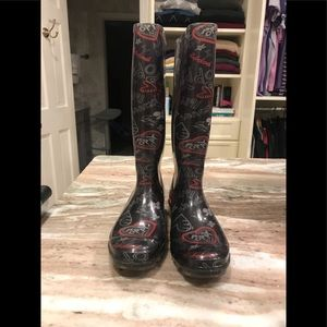Women's Coach rainboots, size 7